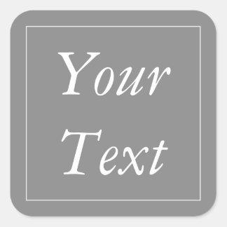 Etiketter för för grått- & vittackgåva och favör
