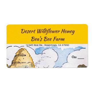 Etiketter för honung för vintagebikupa fraktsedel