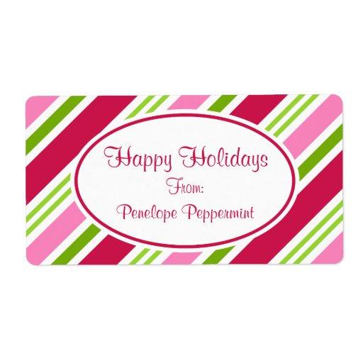 Etiketter för julgodisrandar fraktsedel