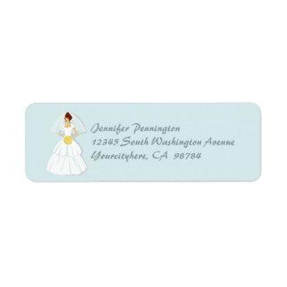 Etiketter för kuvert för blåttmöhippareturadress returadress etikett