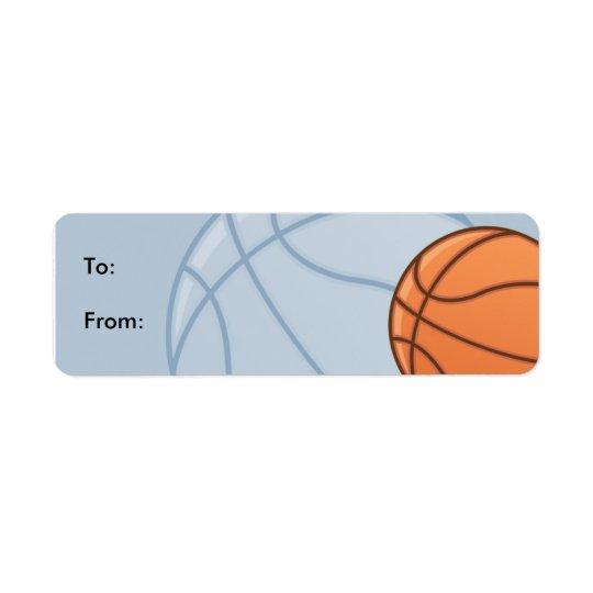 Etiketter för märkre för ungeBaseketball gåva Returadress Etikett