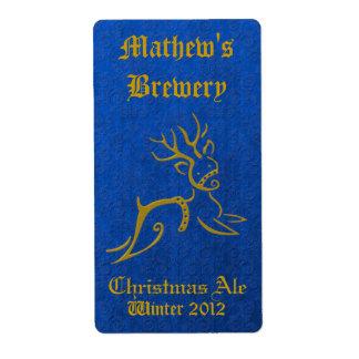 Etiketter för öl för blått- & guldrenhelgdag fraktsedel
