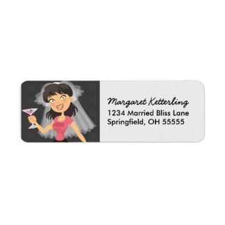Etiketter för personlig för Bachelorette Returadress Etikett