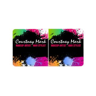 Etiketter för produkt för sats för färgstänk adressetikett