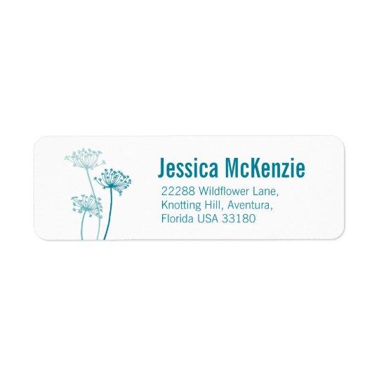 Etiketter för svar för grafisk blom- koparsley returadress etikett