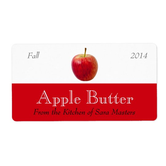 Etiketter på burk för Apple smörsås Fraktsedel