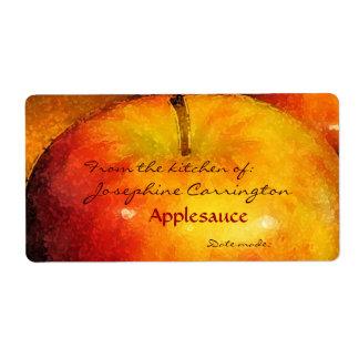 Etiketter på burk för Applesauce Fraktsedel