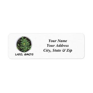 EtikettGMOS etiketter för fredstecken för tomat fö Returadress Etikett