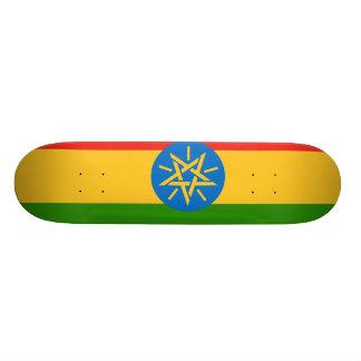 Etiopien flagga mini skateboard bräda 18,5 cm