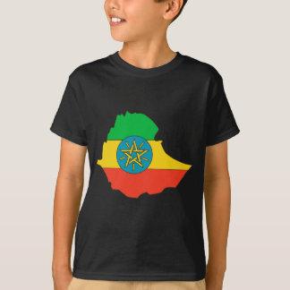 Etiopien flaggakarta tshirts