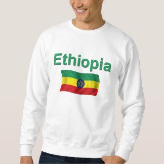 Etiopien medborgareflagga (w/inscription) lång ärmad tröja
