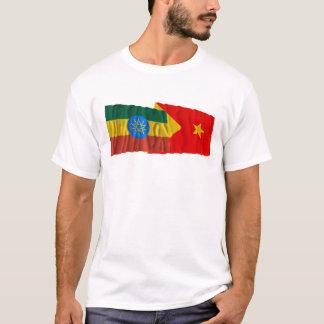 Etiopien och Tigray som vinkar flaggor T Shirt