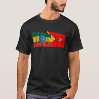 Etiopien och Tigray som vinkar flaggor Tee Shirts