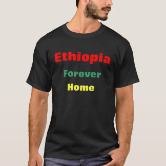 Etiopien slogan tee shirt