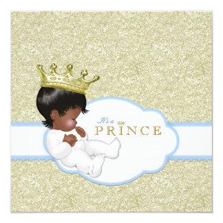 Etnisk baby shower för Prince Pojke Fyrkantigt 13,3 Cm Inbjudningskort