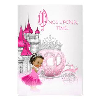 Etnisk Cinderella Princess födelsedagsfest 12,7 X 17,8 Cm Inbjudningskort
