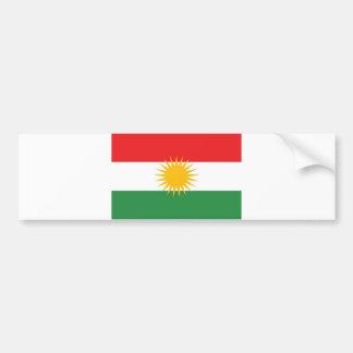 Etnisk flagga för Kurdistan Bildekal