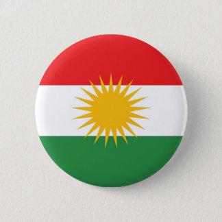 Etnisk flagga för Kurdistan Standard Knapp Rund 5.7 Cm