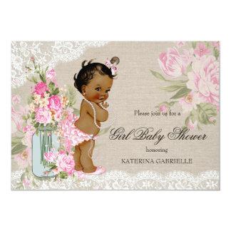 Etnisk nätt baby shower för shabby 12,7 x 17,8 cm inbjudningskort