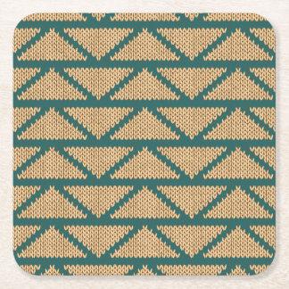 Etnisk stil stuckit mönster underlägg papper kvadrat