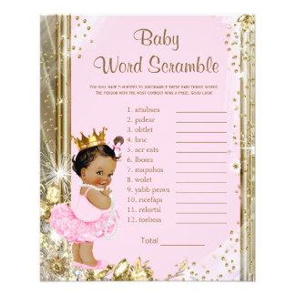 Etniska baby showerlekar för Princess Tutu Reklamblad 11,5 X 14 Cm