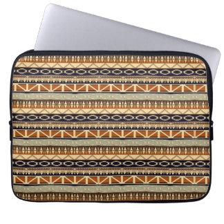 etniskt afrikanskt seamless mönster laptop sleeve