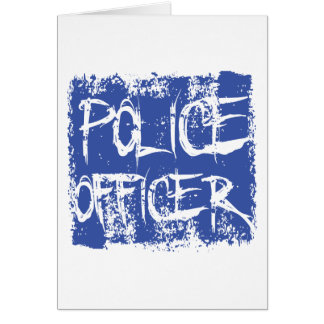 Etsad polis hälsnings kort