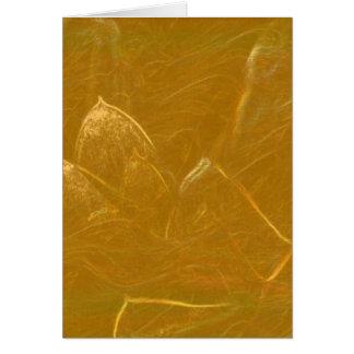 Etsade guld- lotusblommar omkullkastar LowPrice Hälsningskort