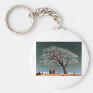 Ett andligt ställe - andligt träd rund nyckelring
