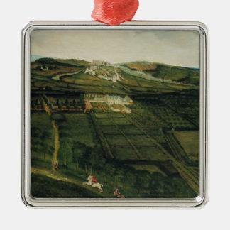 Ett avlägset beskådar av det Corfe slottet Julgransprydnad Metall