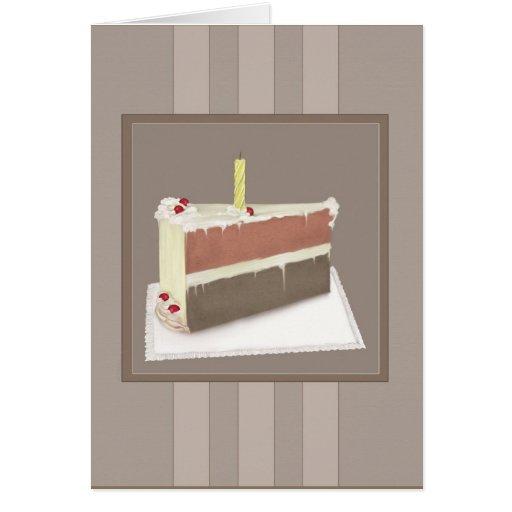 Ett biet av tårtafödelsedagkortet hälsningskort