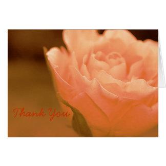 Ett blom- tackkort hälsningskort