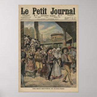Ett Breton bröllop som är högert i Paris Affischer