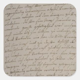 Ett brev från Maria Theresa som görar till kung Fyrkantigt Klistermärke