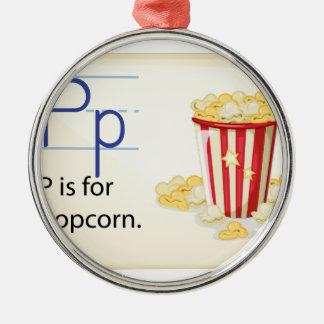 Ett brev P för popcorn Julgransprydnad Metall
