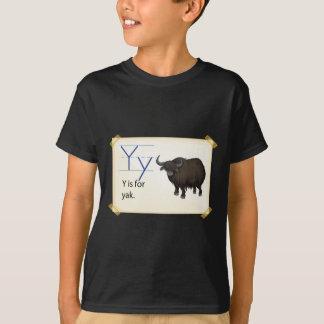 Ett brev Y för yak T Shirt