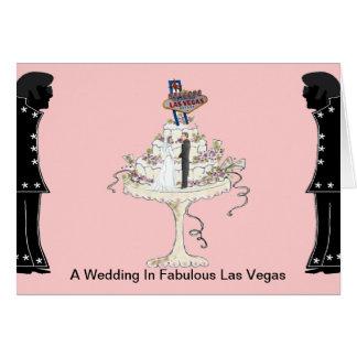 Ett bröllop i det sagolika Las Vegas kortet Hälsningskort