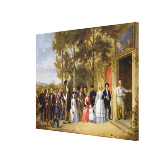 Ett bröllop på den Volant Coeuren, Louveciennes Canvastryck