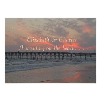 Ett bröllop på stranden 12,7 x 17,8 cm inbjudningskort