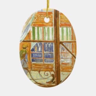 Ett charkfönster av Vincent Van Gogh Julgransprydnad Keramik