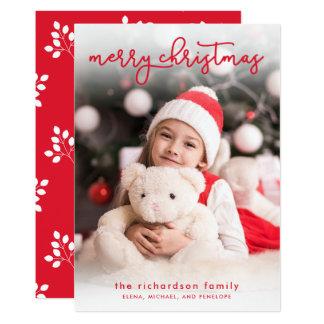Ett enkelt foto för god jul | 12,7 x 17,8 cm inbjudningskort