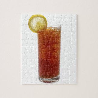 Ett exponeringsglas av Iced Tea Pussel