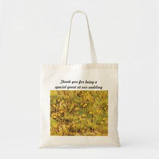 Ett fält av gula blommor av Van Gogh Tygkasse