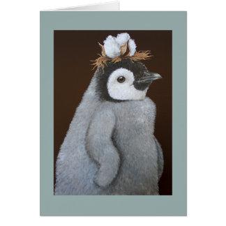 Ett fint sydligt pingvinhelgdagkort hälsningskort
