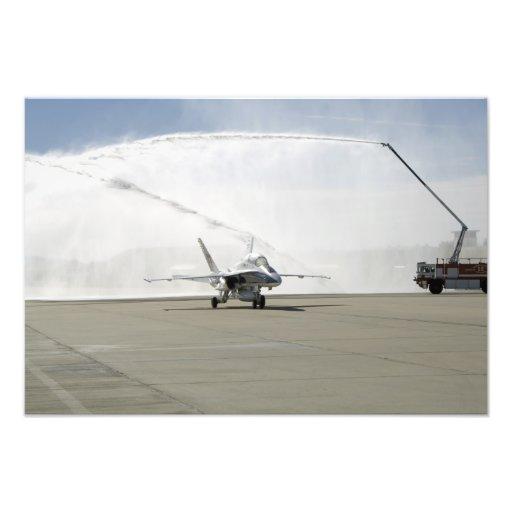 Ett flygplan F-18 Foto