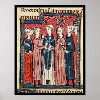 Ett giftermål, från 'Decrets de Gratien' Poster