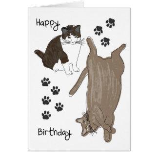 Ett grattis på födelsedagenkort hälsningskort