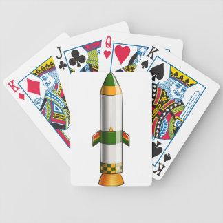 Ett grönt- och gultfärgadraket spelkort