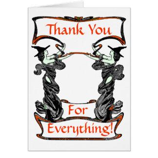 Ett Halloween tack Hälsningskort