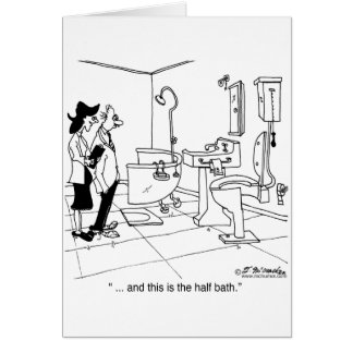 Ett halvt bad hälsningskort